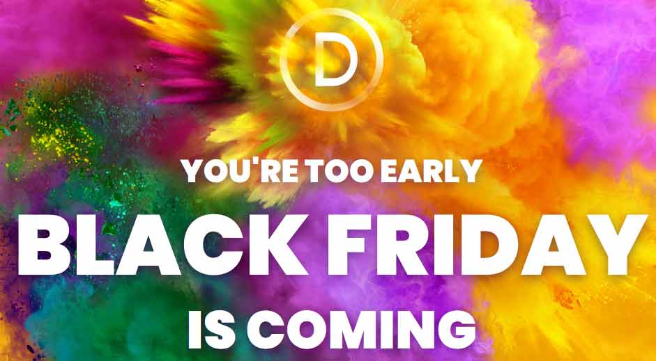Elegant Themes - Divi - Black Friday 2018 Sale