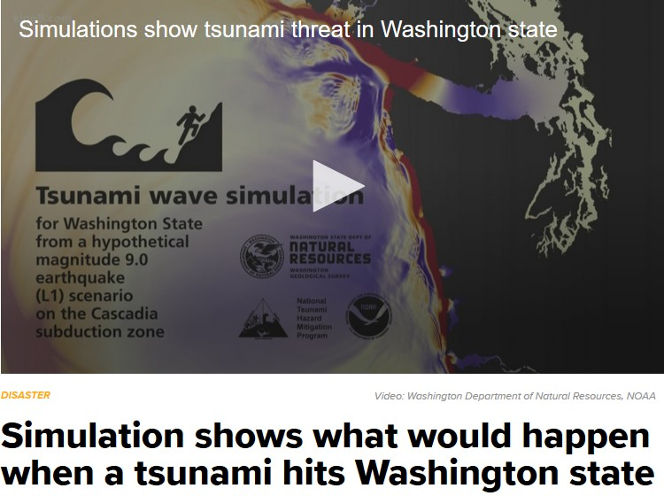 New Tsunami Simulation for Washington and the Pacific Northwest